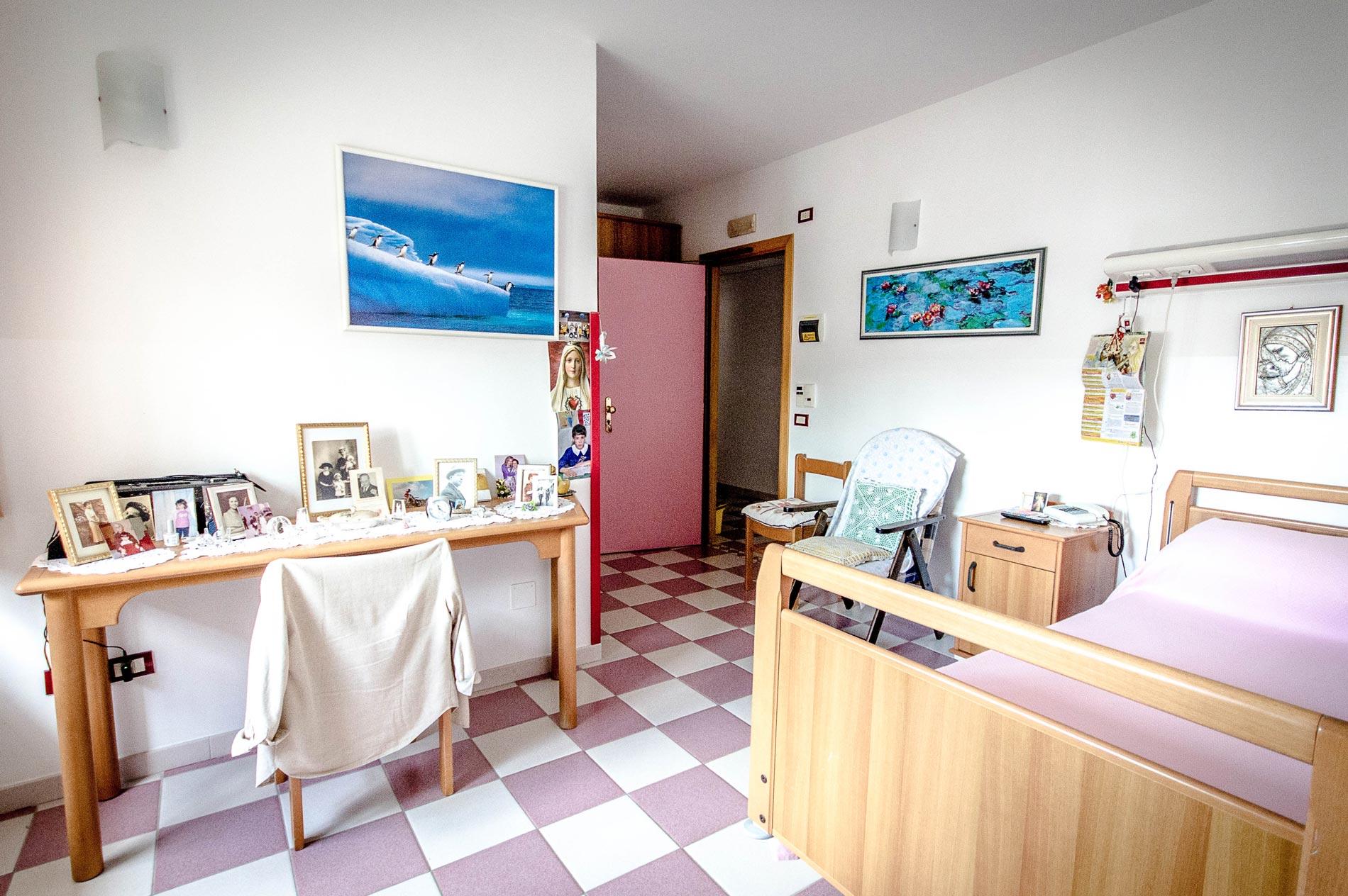 Camere del centro residenziale per anziani